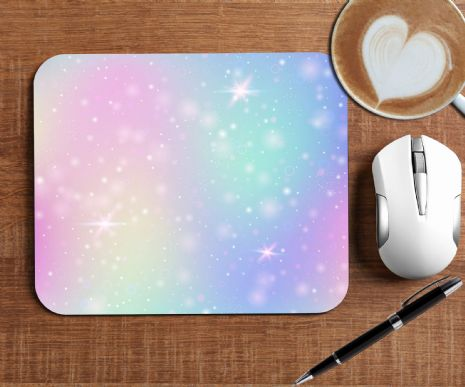 Rainbow Sparkle Mouse Mat PC Computer Pad N10